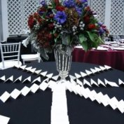 escort card table @ the Brooklyn Botanical Garden.