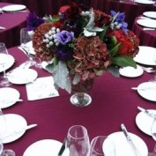 low centerpiece setting @ Brooklyn Botanical Garden