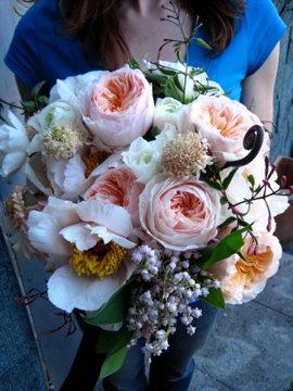 garden rose bouquet:juliette