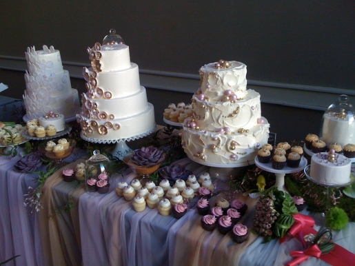 BAM bridal event with Nine Cakes.