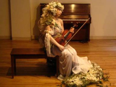 working out a floral costume for an event...a collaboration with the Karin Bacon Events team