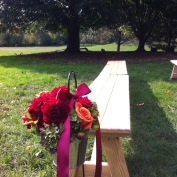 ceremony benches in Prospect Park