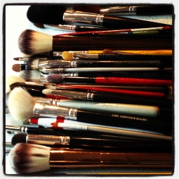 the amazing Anni Bruno @ NYC faces... tools of the trade