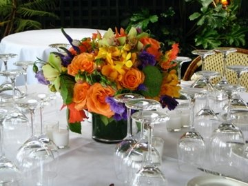 centerpiece setting @ The River Cafe.