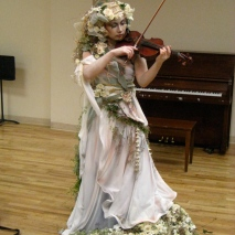 floral costume for client presentation...collaboration with the Karin Bacon Events team